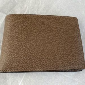 GUCCI MEN'S BIFOLD WALLET  Brown Pebbled leather